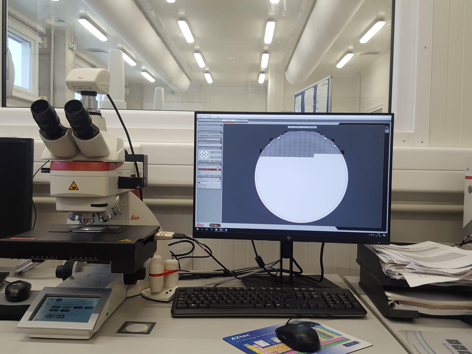 53 Opticka mikroskopia - počítanie častíc
